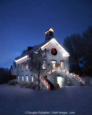 Photograph - Pioneer Chapel At Christmas by Utah Images