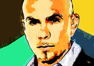 Pitbull Art Print by Vya Artist
