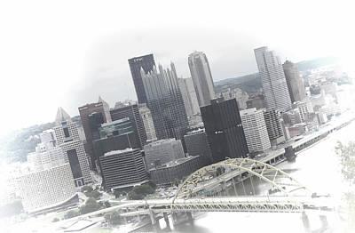 Incline Digital Art - Pittsburgh Skyline From Mt Washington by Kenneth Krolikowski