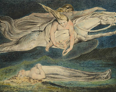Drawing - Pity by William Blake