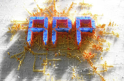 Pixel App Concept Print by Allan Swart