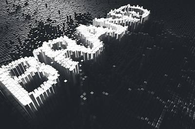 Numbers Digital Art - Pixel Brand Concept by Allan Swart