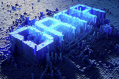 Pixel Data Concept Art Print by Allan Swart