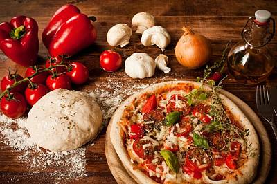 Vegetables Digital Art - Pizza by Alice Kent