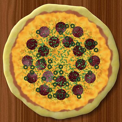 Pizza Art Print by Miroslav Nemecek