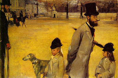 Stroll Painting - Place De La Concorde by Edgar Degas