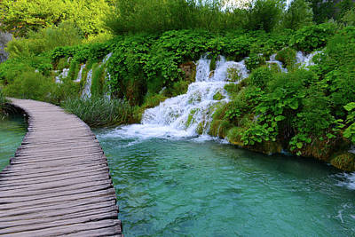 Hike Photograph - Plitvice National Park In Croatia by Brandon Bourdages