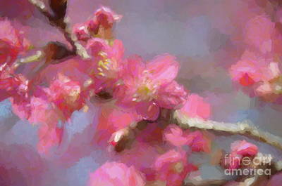 Mixed Media - Plum Blossom - Bring On Spring Series by Andrea Anderegg
