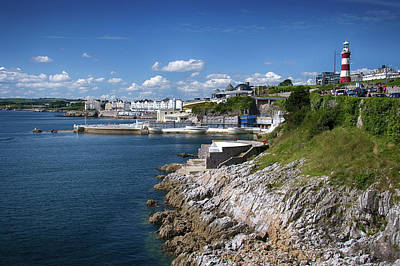 Plymouth Foreshore Art Print by Chris Day