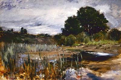 Painting - Polling Landscape  by Frank Duveneck