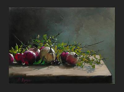 Painting - Pomegranates by Demetrios Vlachos