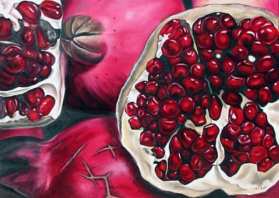 Pomegranates Art Print by Ilse Kleyn
