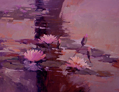 Betty Billups Painting - Pond Blossoms - Water Lilies by Betty Jean Billups