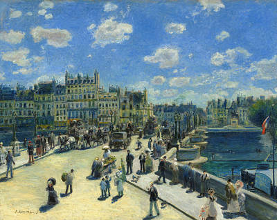 Painting - Pont Neuf Paris by Auguste Renoir