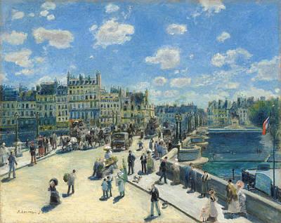 Wagon Painting - Pont Neuf, Paris by Pierre-Auguste Renoir