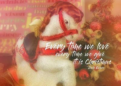 A Pony For Christmas Quote Art Print by JAMART Photography