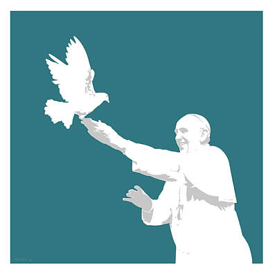 Digital Art Rights Managed Images - Pope Francis Royalty-Free Image by Greg Joens