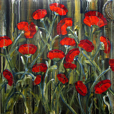 Painting - Poppies by Diane Dean