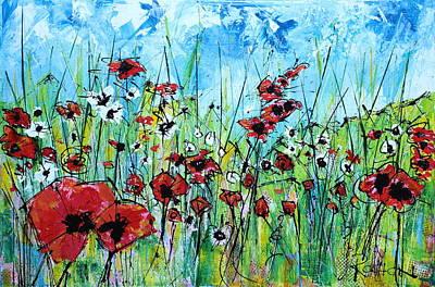 Poppies Art Print by Louie Rochon