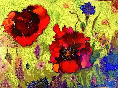 Painting - Poppies by Rae Chichilnitsky