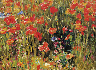 Photograph - Poppies by Robert Vonnoh