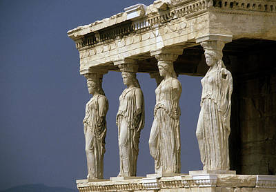 Photograph - Porch Of The Maidens In Athens Greece by Carl Purcell