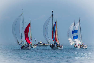 Photograph - Port Huron To Mackinac Race 2015 by Ronald Grogan