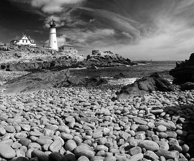 Digital Art - Portland Head Light by Patrick Groleau