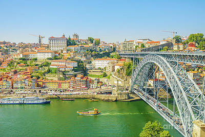Photograph - Porto Ribeira Skyline by Benny Marty