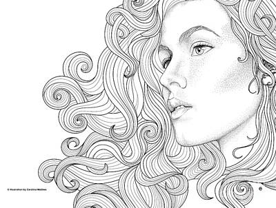 Digital Art - Portrait by Carolina Matthes