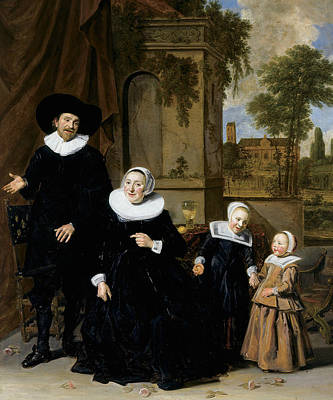 Painting - Portrait Of A Dutch Family by Frans Hals