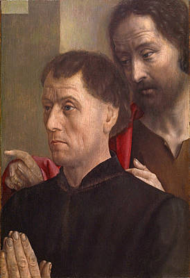 Painting - Portrait Of A Man At Prayer With Saint John The Baptist by Hugo van der Goes