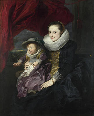 Children Painting - Portrait Of A Woman And Child by Anthony van Dyck