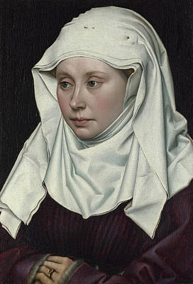 Women Painting - Portrait Of A Woman by Robert Campin