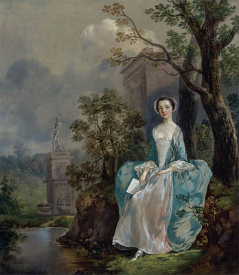 Reading Painting - Portrait Of A Woman by Thomas Gainsborough