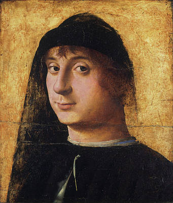 Man Painting - Portrait Of A Young Gentleman by Antonello da Messina
