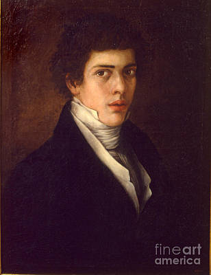 Young Man Painting - Portrait Of A Young Man by Celestial Images