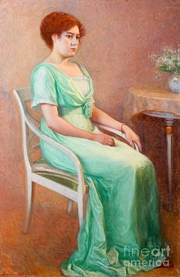Lady Painting - Portrait Of A Young Woman by Celestial Images