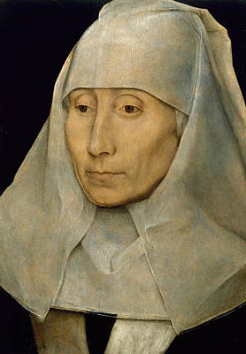 Painting - Portrait Of An Old Woman by Hans Memling