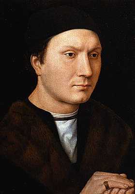 Painting - Portrait Of An Unknown Man by Hans Memling