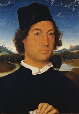 Painting - Portrait Of An Unknown Man With A Letter by Hans Memling