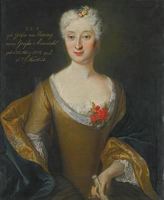 Portrait Of Eva Friederike Charlotte Art Print by MotionAge Designs