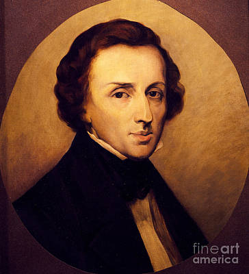 Portrait Of Frederic Chopin  Art Print by Ary Scheffer