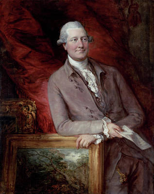 Interior Still Life Painting - Portrait Of James Christie by Thomas Gainsborough