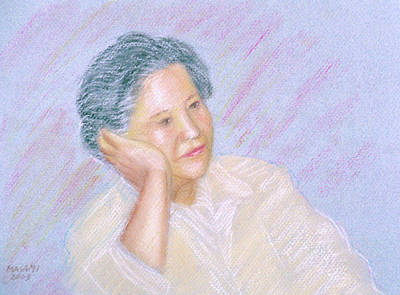 Pastel - Portrait Of Lady by Masami Iida