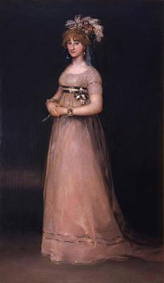 Royalty Painting - Portrait Of Maria Luisa De Borbon Y Vallabriga by Francisco Goya