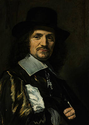 Painting - Portrait Of Painter Jan Asselyn by Frans Hals