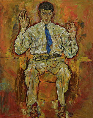 Painting - Portrait Of Paris Von Gutersloh by Egon Schiele