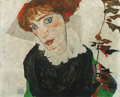 Painting - Portrait Of Wally Neuzil by Egon Schiele