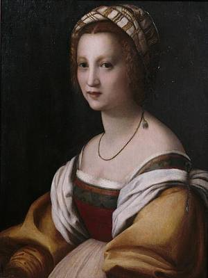 Sarto Painting - Portrait Of Woman by Andrea Del